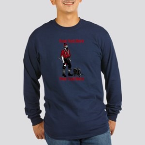 Lumberjack CUSTOM TEXT Long Sleeve Dark T-Shirt