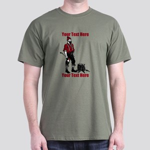 Lumberjack CUSTOM TEXT Dark T-Shirt