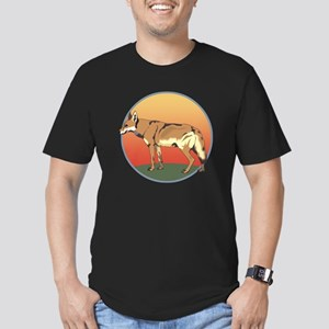 Coyote Sunset Men's Fitted T-Shirt (dark)