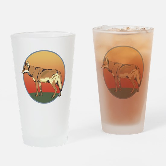 Coyote Sunset Drinking Glass