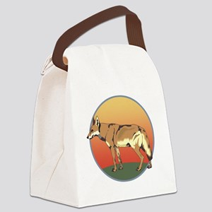 Coyote Sunset Canvas Lunch Bag