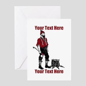 Lumberjack CUSTOM TEXT Greeting Card