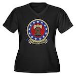 USS INDEPEND Women's Plus Size V-Neck Dark T-Shirt