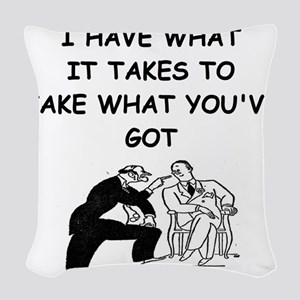 LAWYER2 Woven Throw Pillow
