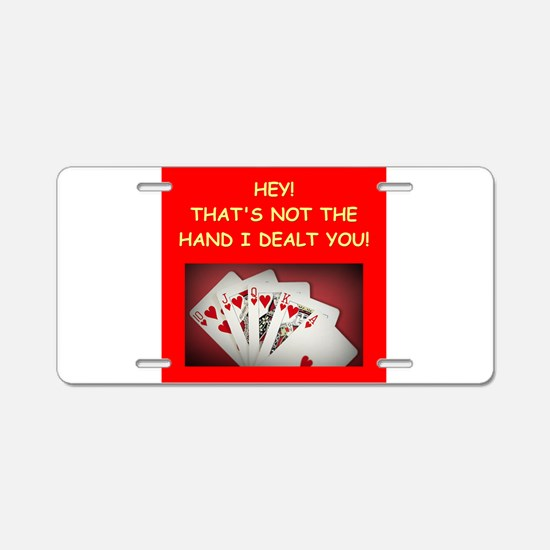 POKER2 Aluminum License Plate