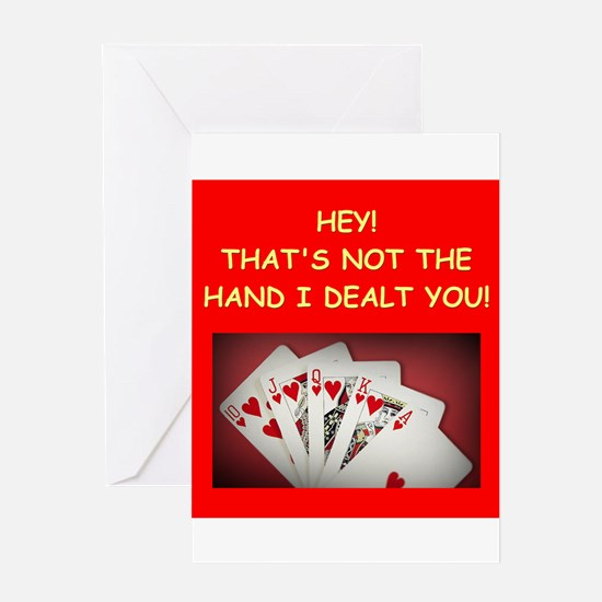 POKER2 Greeting Cards