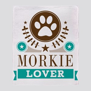 Morkie Dog Lover Throw Blanket