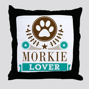 Morkie Dog Lover Throw Pillow