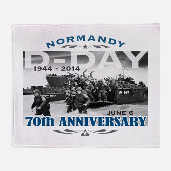 D-Day 70th Anniversary Battle of Normandy Throw Bl