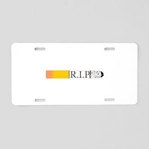 R.I.P. Aluminum License Plate