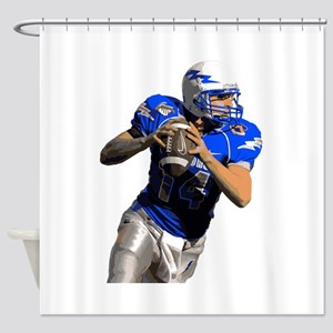 Football Quarterback Shower Curtain