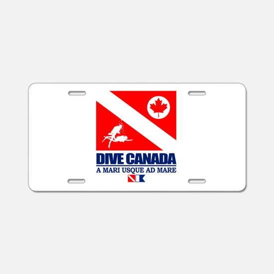 Dive Canada Aluminum License Plate