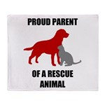 Proud Parent of a Rescue Animal Throw Blanket