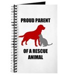 Proud Parent of a Rescue Animal Journal