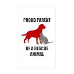 Proud Parent of a Rescue Animal Sticker