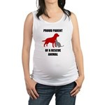 Proud Parent of a Rescue Animal Maternity Tank Top