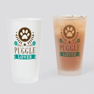 Puggle Dog Lover Drinking Glass