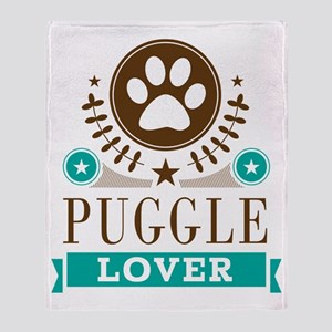 Puggle Dog Lover Throw Blanket