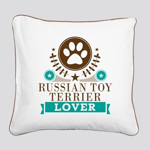 Russian terrier Dog Lover Square Canvas Pillow