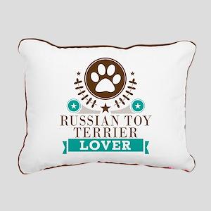 Russian terrier Dog Lov Rectangular Canvas Pillow