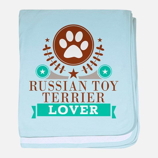 Russian terrier Dog Lover baby blanket