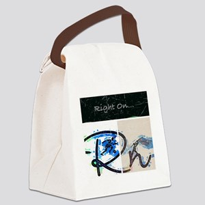 Right On Night Canvas Lunch Bag