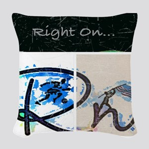 Right On Night Woven Throw Pillow