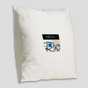 Right On Night Burlap Throw Pillow