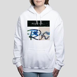 Right On Night Women's Hooded Sweatshirt