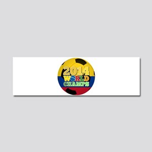 2014 World Champs Ball - Colombia Car Magnet 10 x