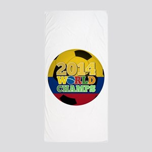 2014 World Champs Ball - Colombia Beach Towel