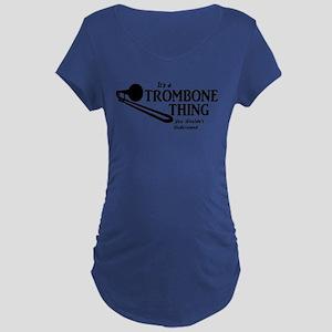 Trombone Thing Maternity T-Shirt