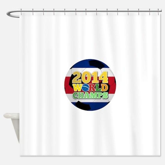 2014 World Champs Ball - Costa Rica Shower Curtain