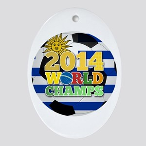 2014 World Champs Ball - Uruguay Ornament (Oval)