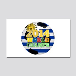 2014 World Champs Ball - Uruguay Car Magnet 20 x 1
