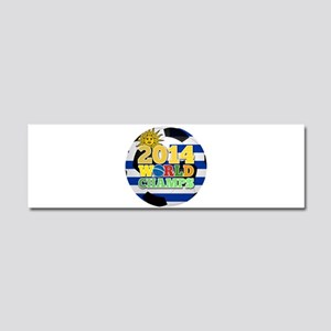 2014 World Champs Ball - Uruguay Car Magnet 10 x 3