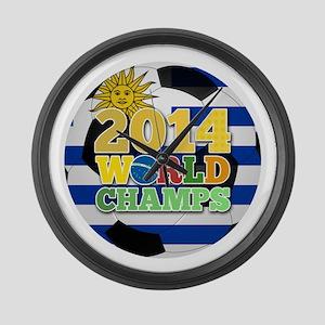 2014 World Champs Ball - Uruguay Large Wall Clock
