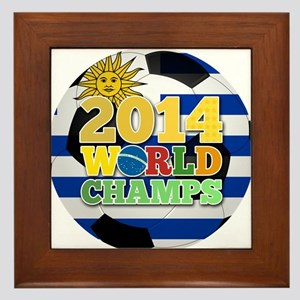 2014 World Champs Ball - Uruguay Framed Tile