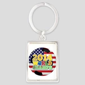 2014 World Champs Ball - USA Keychains