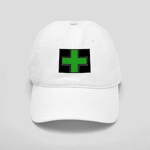 Green Medical Cross (Bold/ black background) Baseb