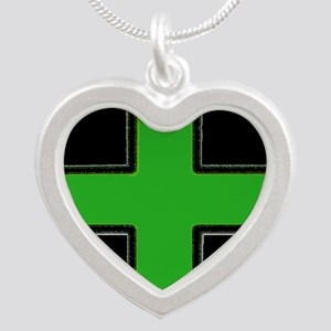 Green Medical Cross (Bold/ black background) Neckl