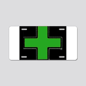 Green Medical Cross (Bold/ black background) Alumi