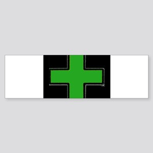 Green Medical Cross (Bold/ black background) Bumpe