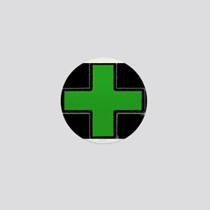 Green Medical Cross (Bold/ black background) Mini