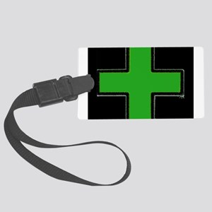 Green Medical Cross (Bold/ black background) Lugga