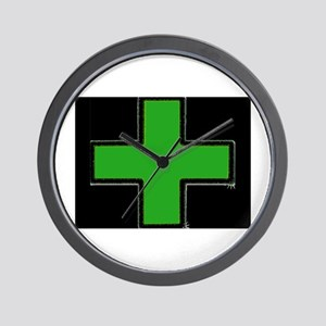 Green Medical Cross (Bold/ black background) Wall