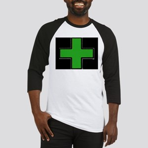 Green Medical Cross (Bold/ black background) Baseb