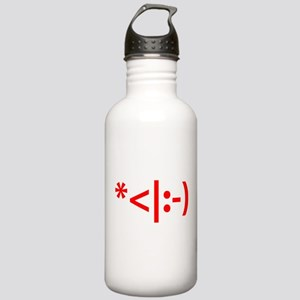 Christmas Elf Emoticon Smiley Sports Water Bottle
