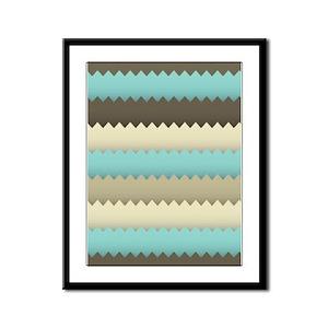 Earth Tones Framed Panel Print