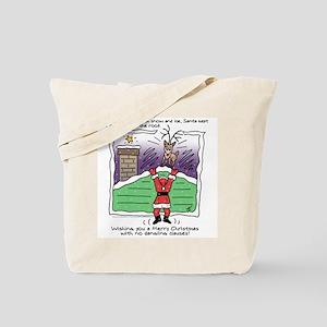 Dangling Claus Tote Bag